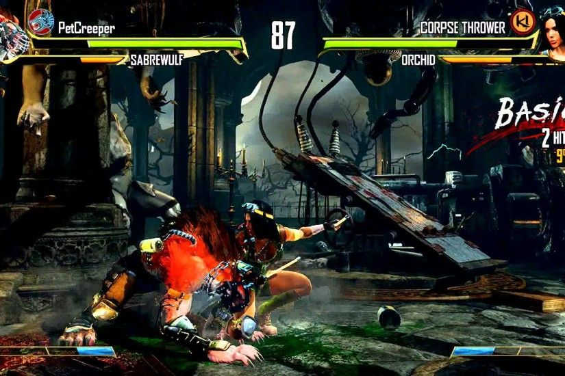 Killer Instinct - Orchid vs Sabrewulf on Alchemical Lab: 5 Overheads Fight  Title, Network Error