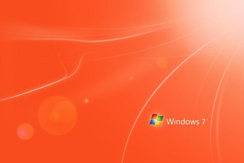 Orange Windows 7 WallPaper HD - http://imashon.com/brands-
