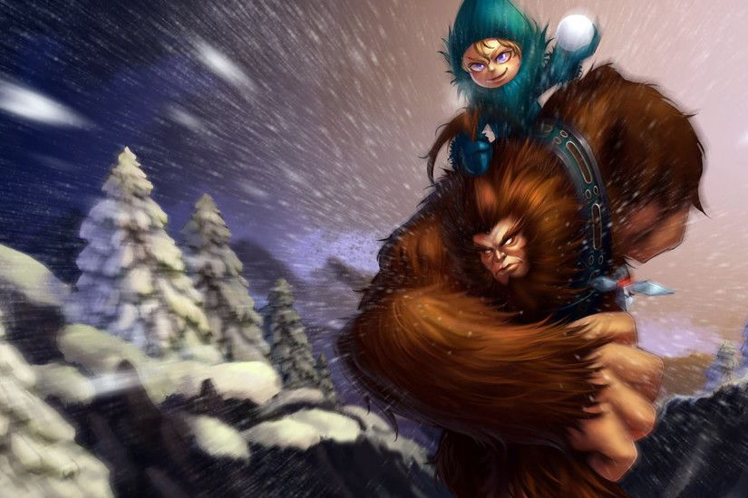 Sasquatch Nunu Splash Art League of Legends Artwork Wallpaper lol