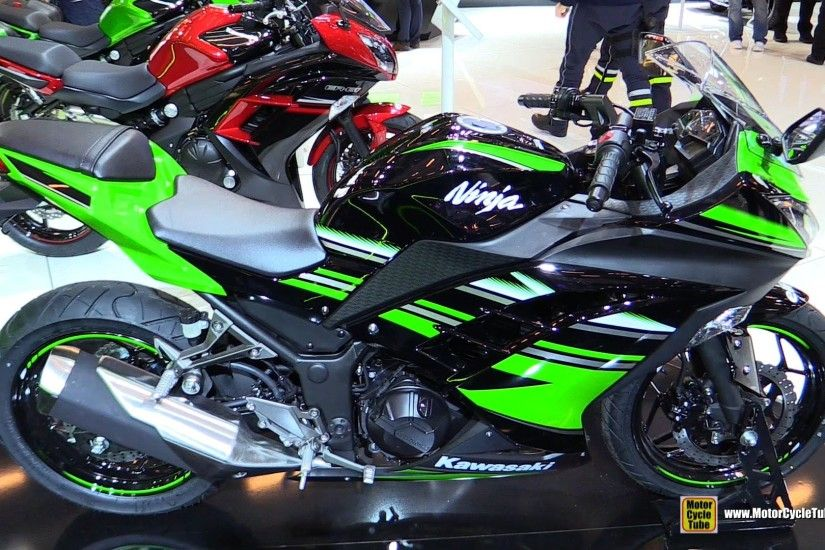 2016 Kawasaki Ninja 300 ABS - Walkaround - 2015 Salon de la Moto Paris -  YouTube