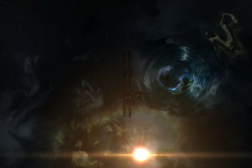 2560x1440 I just discovered the majesty of Wormholes. Haven\'t played EVE in