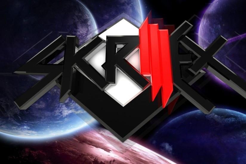 Preview wallpaper skrillex, name, space, planets, symbol 3840x2160