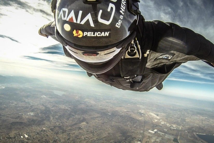 Wingsuit parachute flying fly flight extreme birdman diving skydive  skydiving people 1wingsuit suit people wallpaper | 2048x1150 | 648325 |  WallpaperUP