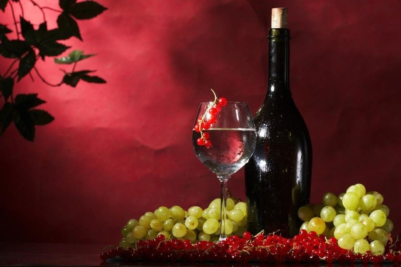 Wallpaper currant and red wine