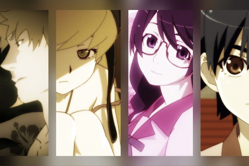 Bakemonogatari dual screen [3840x1080].