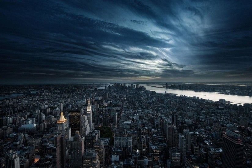 New York in HDR 1920 x 1080 Wallpaper