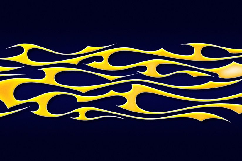 ... flames - yellow tribal on blue by jbensch