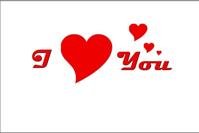I Love You White Background Graphic