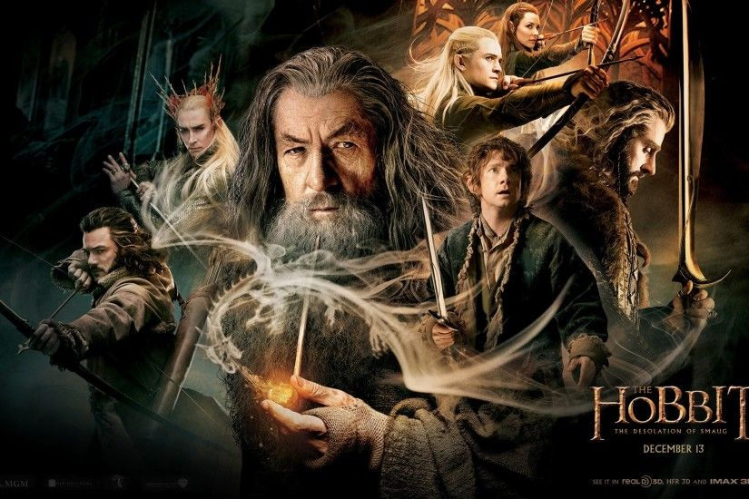 Wallpaper The hobbit the desolation of smaug, Legolas, Bilbo, Gandalf,  Galadriel, Thorin, Main characters HD, Picture, Image