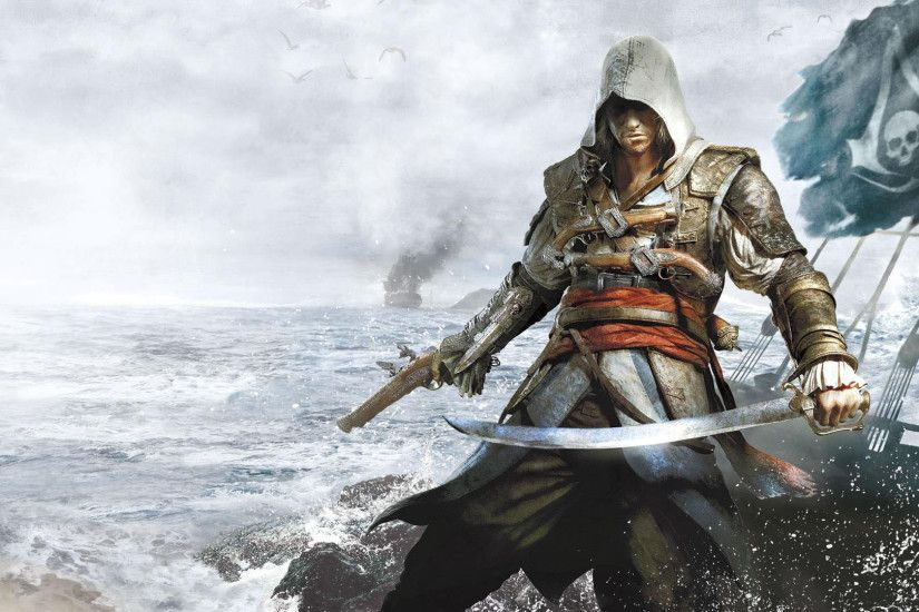Assassin's Creed IV: Black Flag - Edward on the Jackdaw 1920x1080 wallpaper