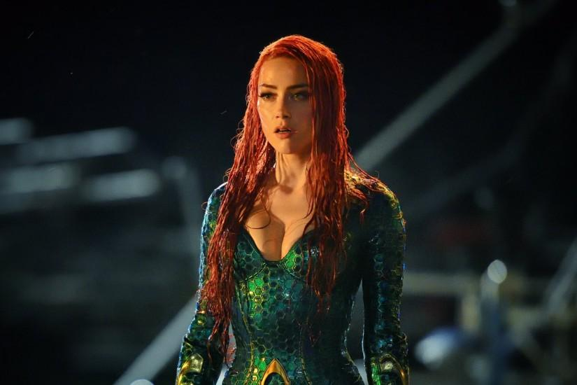 ... Amber Heard As Mera In Aquaman Wallpaper