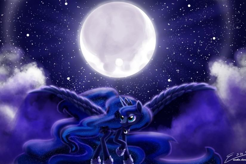 Image - Princess Luna wallpaper by artist-esuka.png - My Little Pony .
