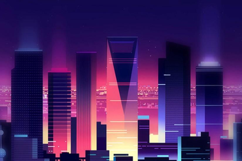 free synthwave wallpaper 1920x1080