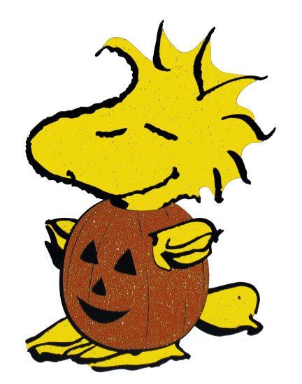 Peanuts Gang Sparkling Halloween Die-Cut Wall Decor ...Charlie Brown  Thanksgiving Wallpaper