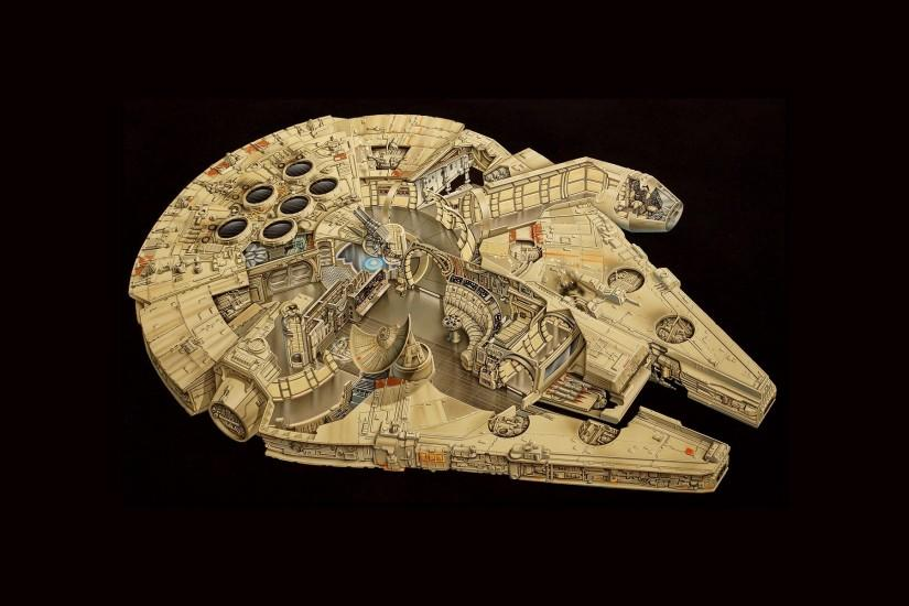 Millennium Falcon, Star Wars Wallpaper HD