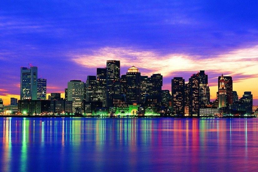 Images For > Boston Skyline Wallpaper