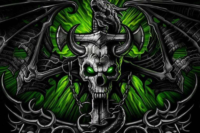 Skull On Fire Wallpapers 1