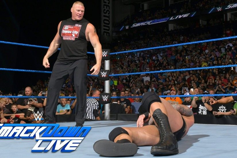 Brock Lesnar invades SmackDown Live: SmackDown Live, Aug. 2, 2016 - YouTube