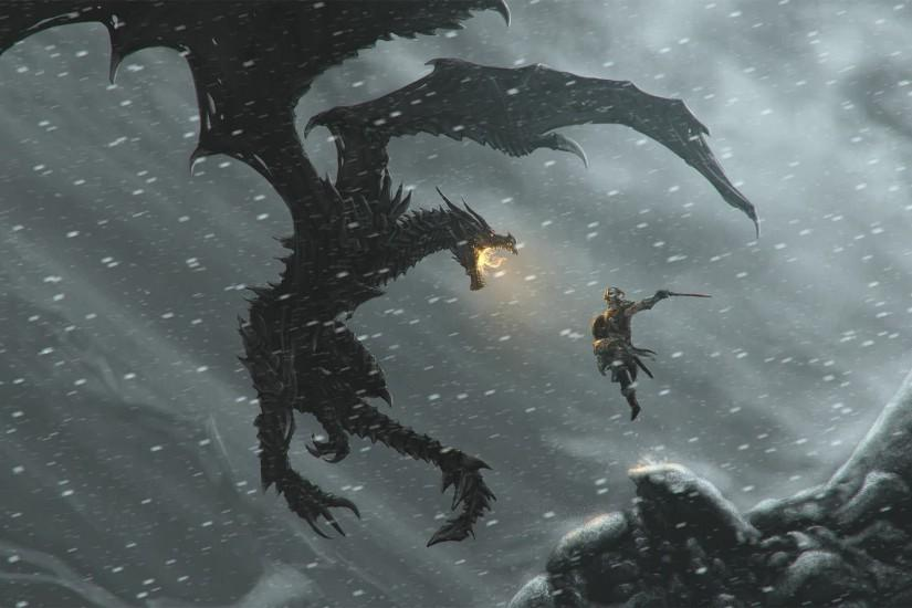 Skyrim Dragon Wallpapers - Full HD wallpaper search - page 3