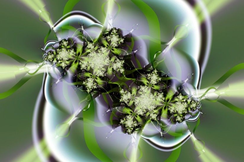 Abstract green flower Wallpaper Fractal Other Wallpapers