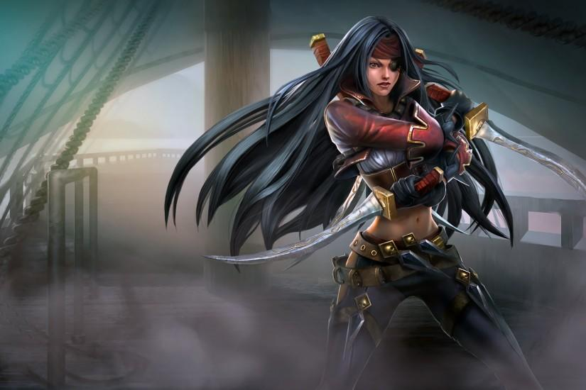 Bilgewater Katarina Splash Art Chinese League of Legends Artwork Wallpaper  lol (2)