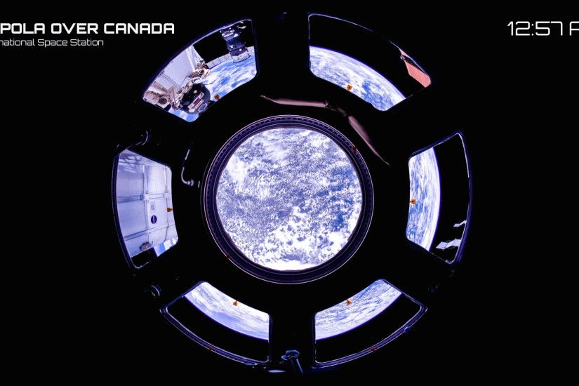 Canada through the ISS cupola window.