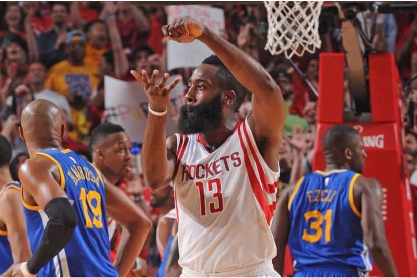 NBA Playoffs 2016 James Harden 4K Wallpaper