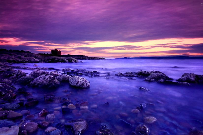 Amazing purple sunset wallpaper