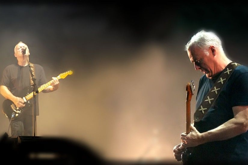 3840x2160 Wallpaper david gilmour, guitar, show, microphone, play