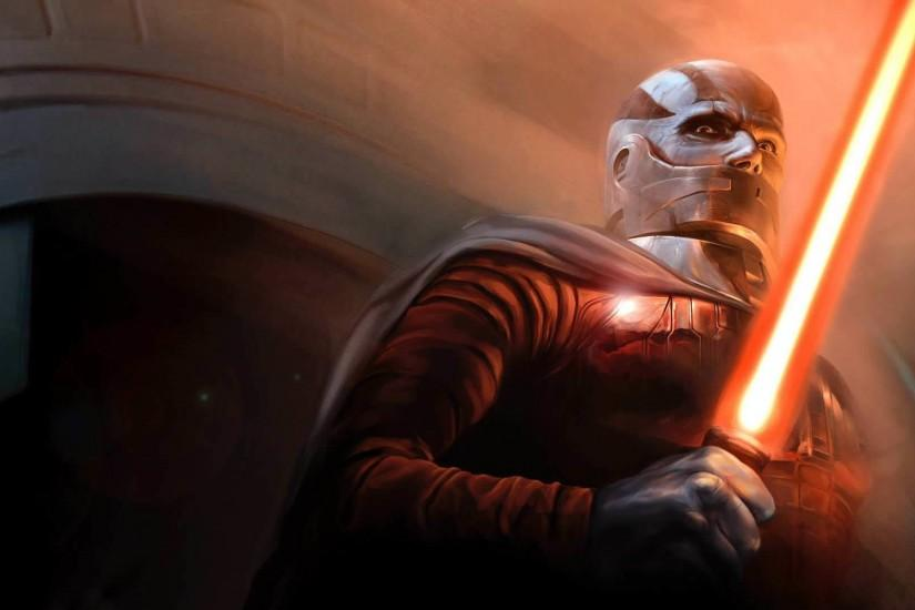 Preview wallpaper star wars the old republic, bald, character, lightsaber,  cloak 1920x1080