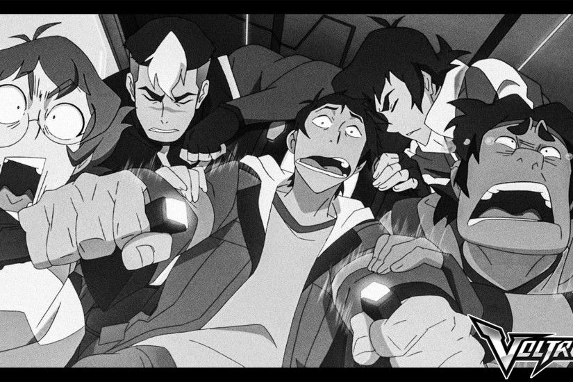 Voltron: Blue Lion Freak Out Scene Wallpaper by SpeckyNation
