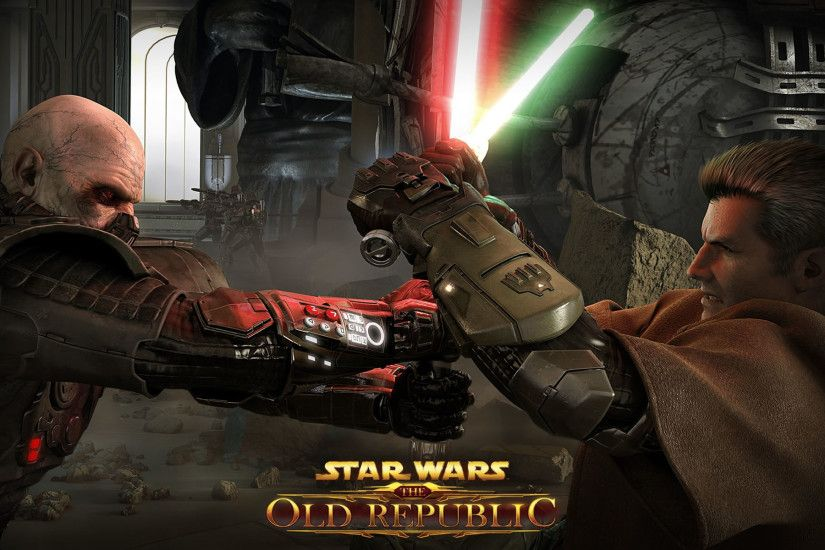 previous star wars the old republic wallpaper. Sith And Jedi In Lightsaber  Fight