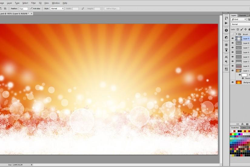 How to Design a Beautiful Christmas Background in - Photoshop Tutorial -  YouTube