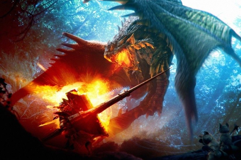 Scary Dragons Breathing Fire | Download Fire breathing dragon wallpaper