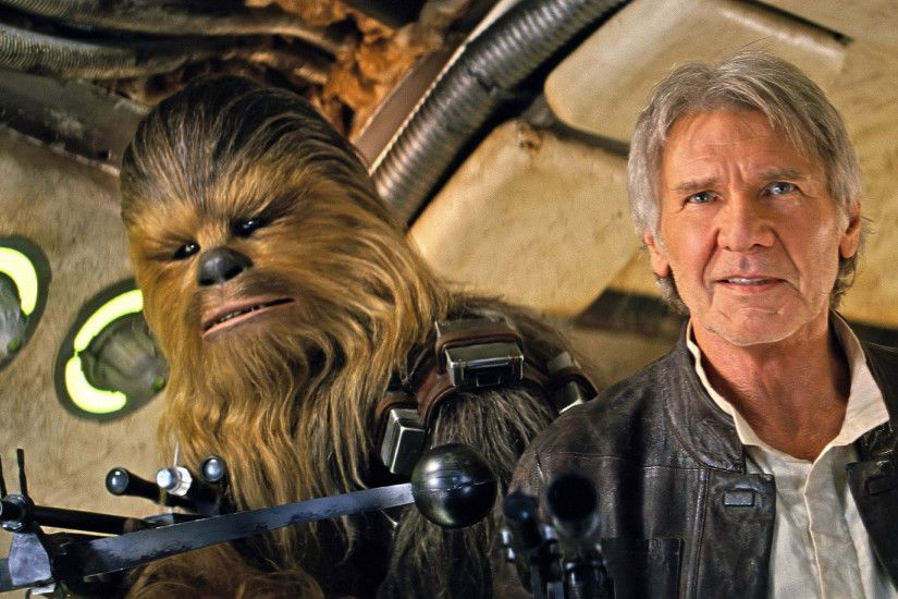 Chewbacca & Han Solo - Star Wars: The Force Awakens 2880x1800 wallpaper