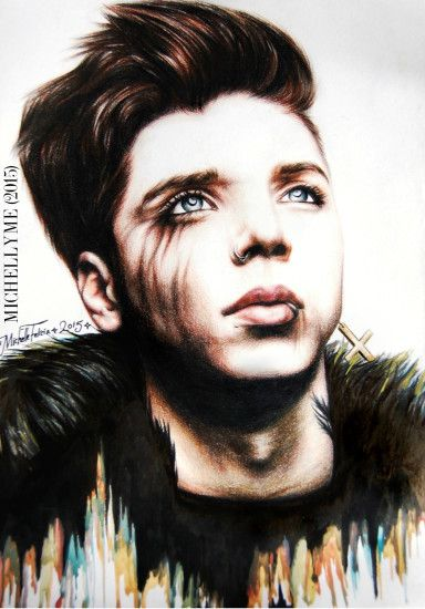 Andy Biersack Color Portrait by MichellyMe Andy Biersack Color Portrait by  MichellyMe