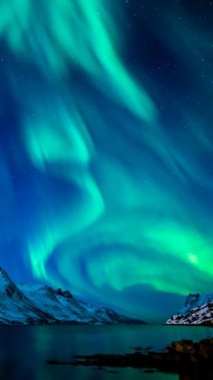 amazing aurora borealis wallpaper 1440x2560