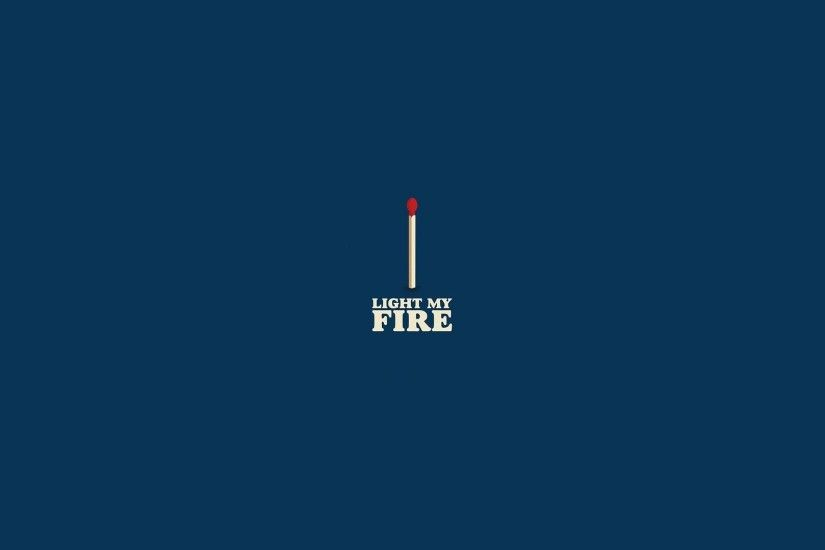 Blue Fire Match Minimalistic The Doors