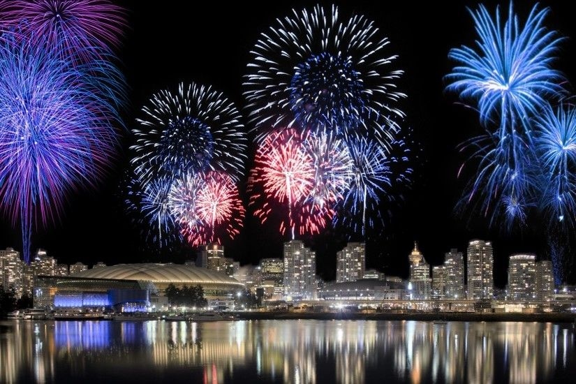 Photography - Fireworks City Night Colorful Wallpaper