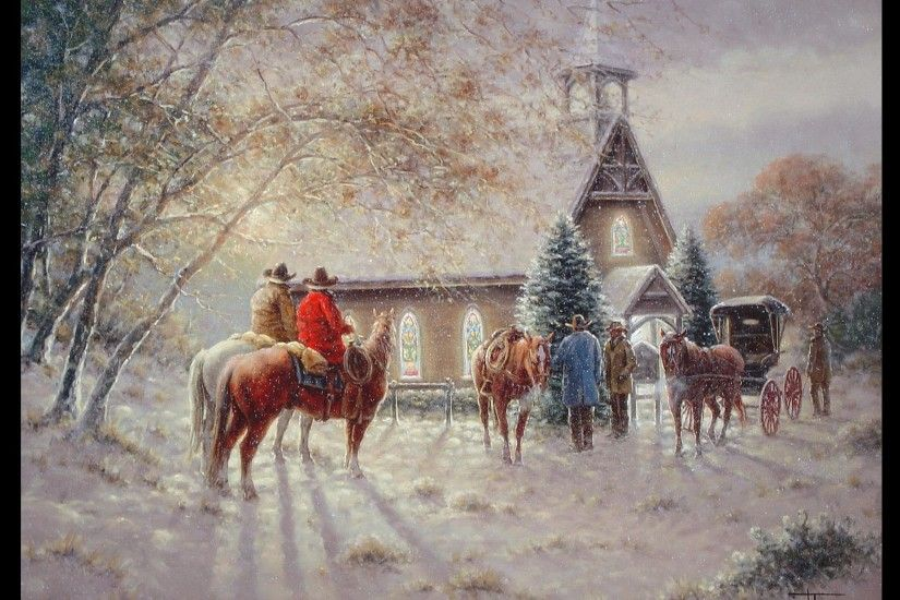 Victorian Christmas Scenes Wallpaper | Jack Terry - First Ones There