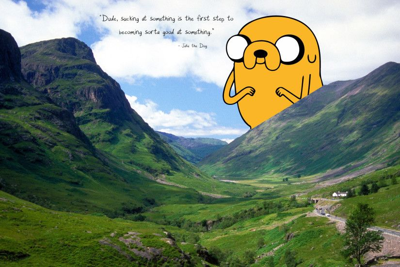 Captivating I Made A Wallpaper: Glencoe Mountain Featuring Jake The Dog And  also Stunning Dog