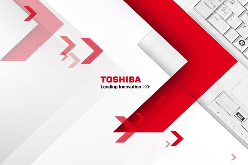 Preview wallpaper toshiba, brand, logo, technology, laptop 1920x1080