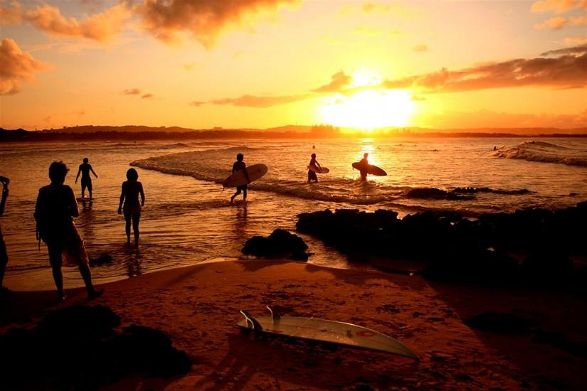 Surfer At Sunset Amazing Wallpapers