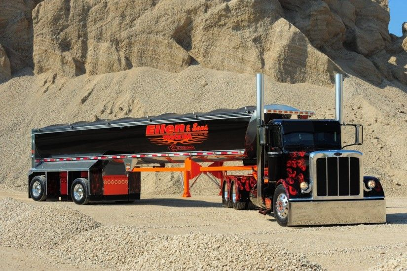 peterbilt truck custom semi show HD wallpaper