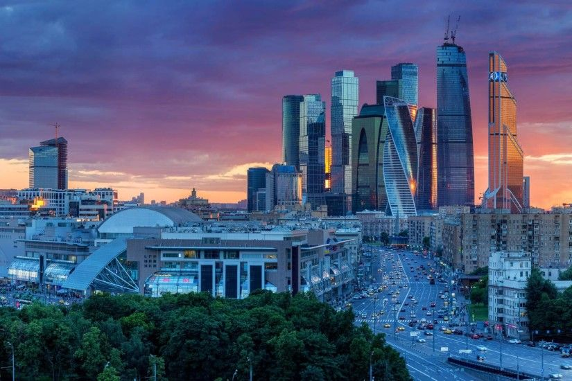 ... Wallpaper Moscow Skyline 2017 ...