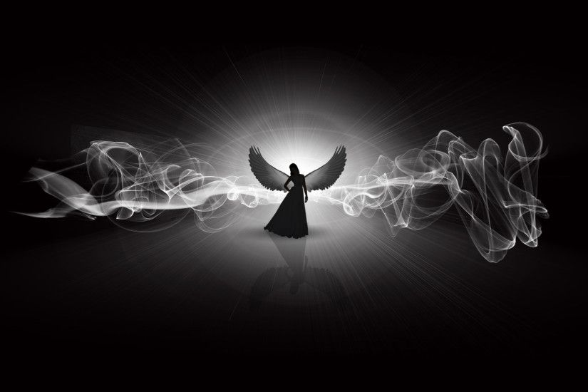 Angel In My Dream. Black And White. by JALDIP on Clipart library