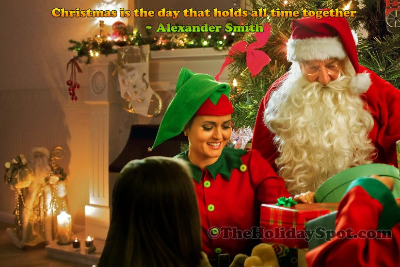 Wallpaper - Christmas celebration with Santa