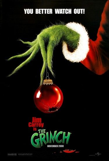 """How The Grinch Stole Christmas"" advance movie poster, 2000."