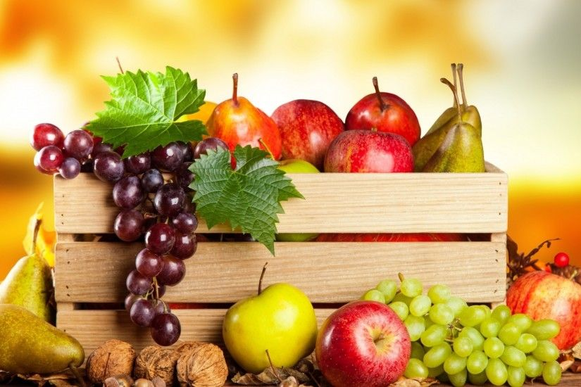 Healthy Fruit Basket for 1920 x 1080 HDTV 1080p resolution