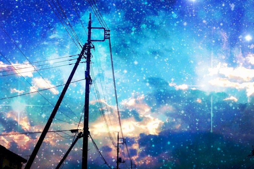 Original asuka night original scenic sky stars - #galaxy #space Android  wallpaper @mobile9